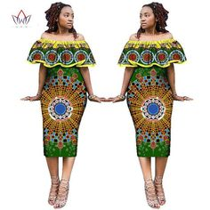 Gender: WomenSleeve Style: Off the ShoulderNeckline: Ruffled Estimated Delivery Time:12-22days Style: VintageSleeve Length(cm): SleevelessSilhouette: SheathDresses Length: Mid-CalfMaterial: CottonPattern Type: PrintWaistline: NaturalDecoration: ZippersFabric Type: BatikGender: WomenItem: African ClothingSpecial: Africa