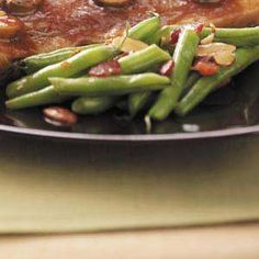 Bacon-Almond Green Beans -- This actually is from Simple & Delicious magazine, and it's just the best recipe; it's so fast and the results are so tasty. The beans are fabulous, but I've also made broccoli, Brussels sprouts and snap peas this way, too, and my family just loves them.   -Catherine Cassidy