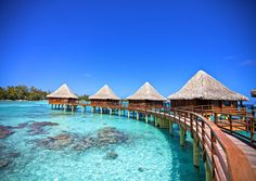 to be able to swim in waters so clear you can see the fish...Vacation in Tahiti