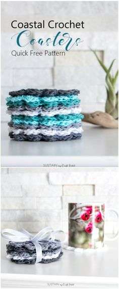 I have rounded up some of the best and interesting free crochet coaster patterns for your home!Crochet Coaster Pattern for Beginners Beginner Crochet Tutorial, Beginner Crochet Projects, Quick Crochet, Crochet For Beginners, Cute Crochet, Irish Crochet, Tutorial Sewing, Crochet Tutorials, Sewing Projects