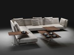 Corner sofas: Sofa combination Evergreen by Flexform