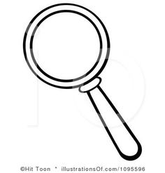 Magnifying glass pattern. Use the printable outline for