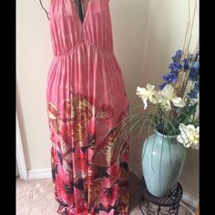 $15 excellent condition Pink, long and adorable!! Perfect condition, new without tags Dresses Maxi