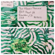 Two Hands Paperie Mail Art from: Joan Game