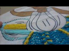 Bordado Fantasía Flor nena  Orquidea  azul  725