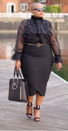Plus Size Fashion for Women - Business und Casual Mode für mollige Frauen Plus Size Fashion For Women, Plus Size Women, Plus Fashion, Petite Fashion, High Fashion, Fashion Trends, Women's Fashion, Business Mode, Business Wear