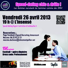 Affiche soirée Speed-Dating chic & drôle by Job Me Tender