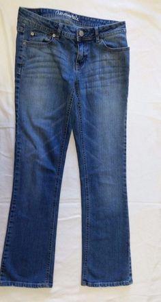 Aeropostale Jeans Chelsea Bootcut Womens Juniors Size 2 Short Denim medium rise  #Aropostale #BootCut