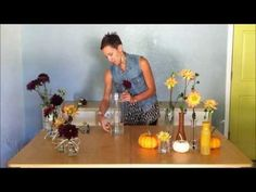 3 easy ways to arrange dahlias at home for fall using what you have at home. www.cactusflower.com