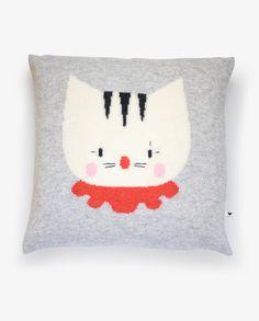 GREY CUSHION - The Pierrot Cat Pedrolino