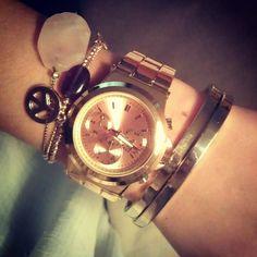 - watch rose gold bracelets, love jewerly