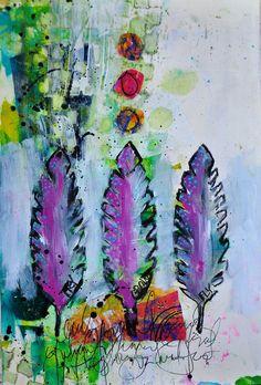 Dina Wakley Feathers