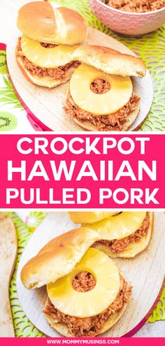 Hawaiian Pulled Pork in the Crockpot is a taste of tropics at home! This easy Hawaiian pulled pork recipe is moist & flavorful with just a few ingredients. Slow Cooker Ribs, Slow Cooker Recipes, Crockpot Recipes, Casserole Recipes, Slow Cooked Pulled Pork, Pulled Pork Recipes, Ranch Dip, Pulled Turkey, Hawaiian Pulled Pork
