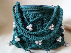 No-fuzzy Crocheted bag,, tote, handbag, purse, pouch