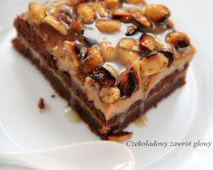 Ciasto czekoladowe z kremem mascarpone, karmelem i słonymi fistaszkami | Czekoladowy zawrót głowy French Toast, Food And Drink, Pie, Sweets, Cooking, Breakfast, Cheesecake, Cakes, Mascarpone