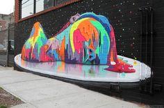 Mural by Chilean artist Dasic Fernández. Bushwick, Brooklyn