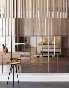 Our relationship with mirrors is intriguing - they open a space up, creating a magical feeling of a mysterious other place. When delicately cut and bevelled they can have a jewel like effect. How do you use mirrors in your home?