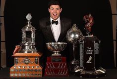 Carey Price of the Montreal Canadiens in Sartorialto, win Vezina Trophy, William M. Jennings Trophy, Hart Memorial Trophy and the Ted Lindsay Hockey Goalie, Hockey Mom, Hockey Teams, Hockey Players, Hockey Stuff, Montreal Canadiens, Mtl Canadiens, Hockey Trophies, Ted Lindsay