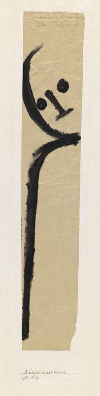 Abschied nehmend, 1938 / Paul Klee