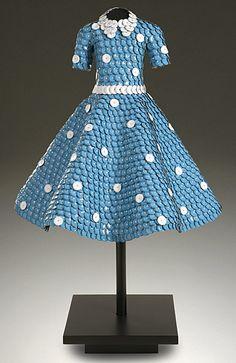 "John Petrey ~ ""Doris Day"" 53""x36""x36"" | Dress sculpture of Bottle Caps http://www.johnpetrey.com  John Petrey © 2006 | Name from here: http://www.knoxnews.com/news/2008/dec/28/chattanooga-revival/"