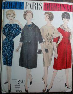 Vintage Vogue Paris Original Pattern 1085 Designed by Gres UNCUT FACTORY FOLDED