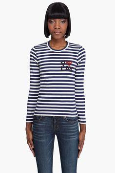 Play Comme Des Garons Cotton Jersey Striped Shirt - Play Comme Des Garons, $98.00 | www.findbuy.co