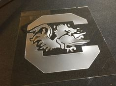 USC Gamecocks Stencil // Stencil Designs // DIY Projects // Wall Stencils // Letter Stencils // Custom Stencils