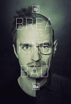 Breaking Bad split face poster