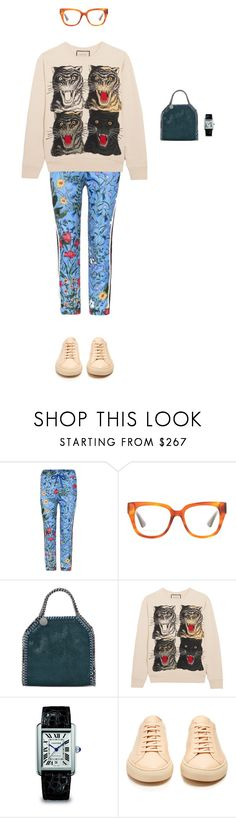 """""""gucci pre fall '17."""" by sarah-k-king on Polyvore featuring Gucci, STELLA McCARTNEY, Cartier and Common Projects"""