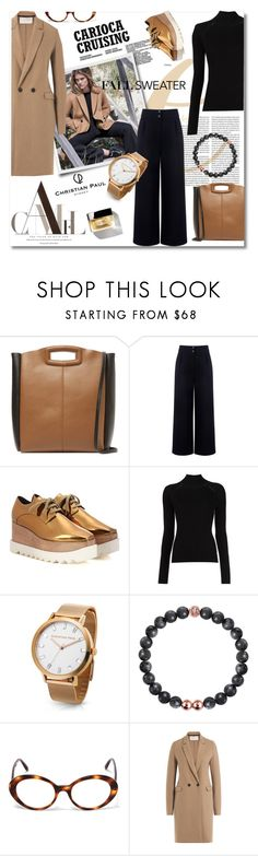 """Cozy Fall Sweaters"" by lacas ❤ liked on Polyvore featuring Massimo Dutti, Maje, Être Cécile, Chanel, STELLA McCARTNEY, Misha Nonoo, Oliver Peoples, Harris Wharf London, fallsweaters and christianpaul"