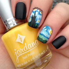 💫Starry Night Nails💫 Inspired by the Van Gogh Painting.