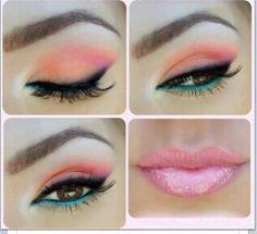 Orange, pink & teal