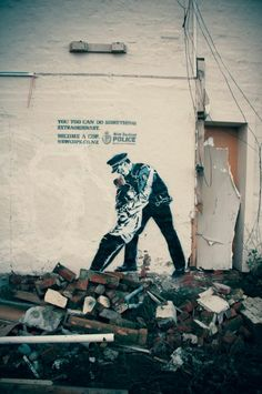 New Zealand Police: Spence  You too can do something extraordinary.  Become a cop.  newcops.co.nz  Love the 'Banksy' Style graffiti art