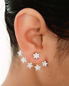 YouBella Gold Plated American Diamond Earcuff - YOUBELLA Women jewellery