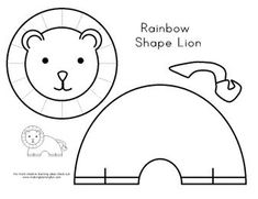 Rainbow Shape horse cut and paste from Making Learning Fun
