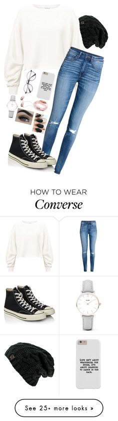 """""""More"""" by river-rain-water on Polyvore featuring Miss Selfridge, H&M, Converse and CLUSE"""