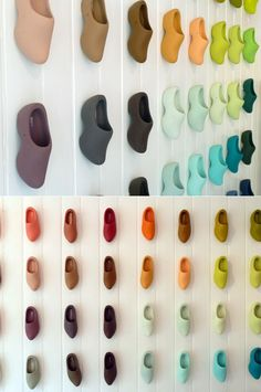 Rainbow clogs! A paint shop with an excellent colour chart, via Present and Correct.