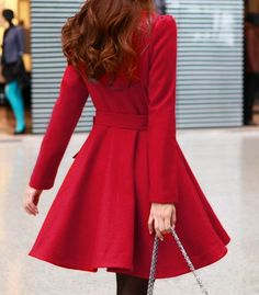 Yellow/ Beige /Green /Orange wool women coat women dress coat