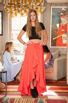 Katie Readman at S-Dress tea party, looking amazing in Stellaria skirt! http://www.sdress.com/stellaria-skirt-cape