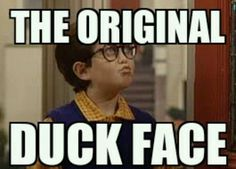 The original duck face found on Full House.