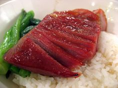 Cha siu pork with rice / 叉燒飯