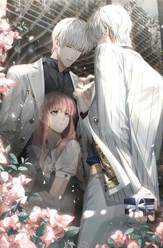 Romantic Anime Couples, Romantic Manga, Cute Anime Couples, Yandere Anime, Anime Chibi, Kawaii Anime, L Dk Manga, Manga Cute, Cool Anime Guys