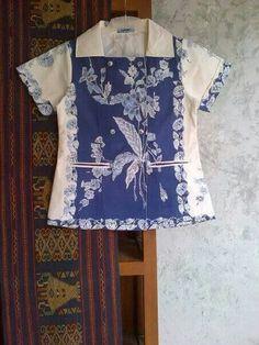 Ngjk Blouse Batik, Batik Dress, Lace Dress, Different Dresses, Simple Dresses, Pretty Dresses, Batik Kebaya, Kebaya Dress, Batik Fashion