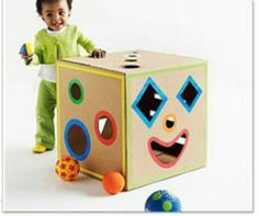 play with cardboard box
