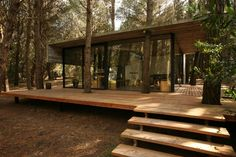 Contemporary And Unique Wooden House Design Ideas Beautiful Amazing Cool Wooden House Architecture Design Exterior Home Wood Rooftop Clean Glass Wall Fabulous Eco Friendly Designs Idea Cabins In The Woods, House In The Woods, House In Nature, Cottage In The Woods, Design Exterior, Roof Design, Rustic Exterior, Terrace Design, Deck Design