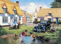 english village paintings | transpress nz: a good old Morris 8
