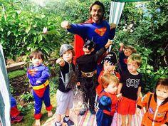 Superman saves the day at this kids party!