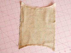 How to make a tissues holder. Curvy Tissue Holder - Step 4
