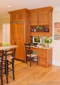 kitchen desk design ideas of kitchens traditional light wood kitchen - Kitchen Desk Ideas