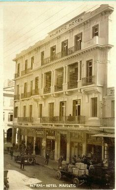 Greece Pictures, Old Greek, Athens Greece, Photo Postcards, Vintage Pictures, Planet Earth, Old Photos, Facade, Street View